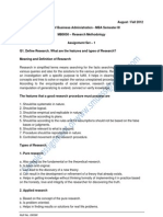 MBA Sem3 Fall 2012 Assignment