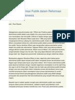 Peran Administrasi Publik Dalam Reformasi Birokrasi Di Indonesia