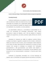 utf-8''Comunicado Fórum Estadual Agrotóxicos 30 11 11[1]