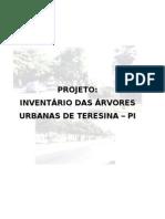 PROJETO DO INVENTÁRIO DE ARBORIZ.