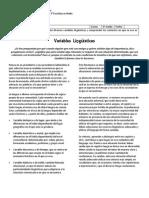 Guía de aprendizaje - 3M - Variables Lingüísticas
