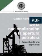 BCV La nacionalizacion petrolera venezolana