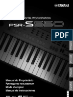 Manual Teclado Yamaha Psrs550