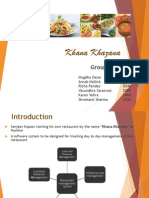 Business Analysis ppt on khana khazana