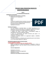 Esquema Informe técnico del Proyecto SocioTecnológico