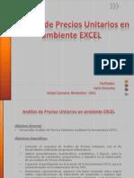 Análisis de Precios Unitarios en ambiente EXCEL