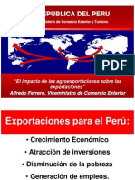 Exportaciones para el Perú