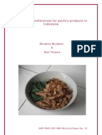 Consumer Preferences for Poultry Products in Indonesia