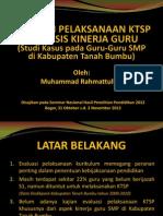 Muhammad Rahmattullah - Presentasi Hasil Penelitian Pendidikan 2012