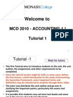 MCD 2010 Tutorial 1