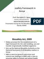 Biosafety Framework in Kenya