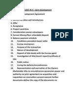 CLAUSES -Development Agreement