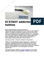 ECSTASY Addiction Hotline