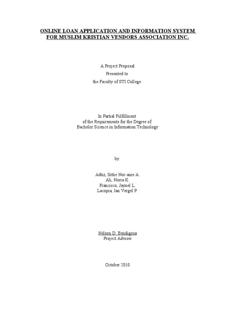 Online registration system sample thesis