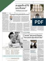 """Repubblica 29.10.12 - Sodano lancia un appello al Pd """"In piazza con noi a Roma"""""""