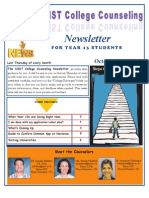 NIST Counsellor Newsletter for Year 13 Students October 25, 2012
