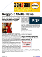 Reggio 5 Stelle News 24-Oct-2012