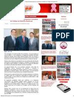 25-10-12 Periódico Express de Nayarit - Pedro Enríquez exhorta a enriquecer iniciativa de Código de Roberto Sandoval