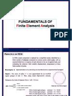 Fundamentals of FEA