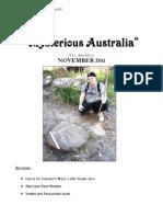 Mysterious Australia Newsletter - November 2011