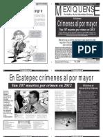 Versión impresa del periódico El mexiquense 29 de octubre 2012