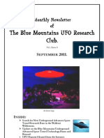 The Blue Mountains UFO Research Club Newsletter - September 2011