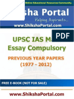E Book IAS Main Essay Compulsory Papers Year 1977 2012