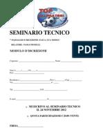 Seminario Tecnico 24 Novembre 2012