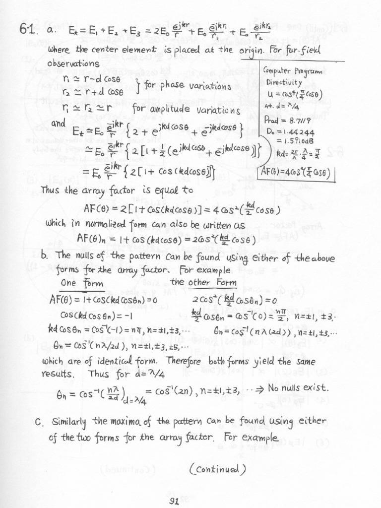 Solution manual antenna theory by balanis edition2 chapter6 fandeluxe Image collections