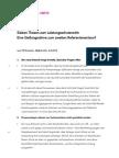 Sieben Thesen zum Leistungsschutzrecht
