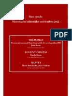 Novedades Sins Entido_noviembre 2012