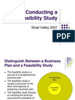 Conducting a Feasibility Study