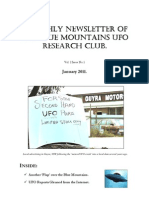 The Blue Mountains UFO Research Club Newsletter - January 2011