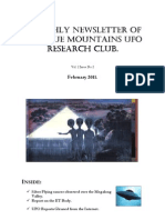 The Blue Mountains UFO Research Club Newsletter - February 2011