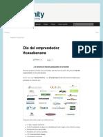 Participación Día del Emprendedor - Bananity blog (Spanish) - 11.06.2012