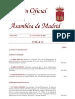 BOLETIN ASAMBLEA PREGUNTA 8981 PIDEN COMPARECENCIA CONSEJERO TRANSPORTES