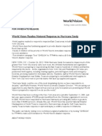 World Vision Hurricane Sandy Release 10-26-12