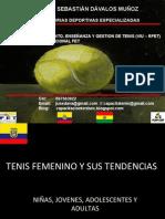 Sebastián Davalos presentacion Conferencia BNP Paribas Bolivia sobre Tenis Femenino y sus tendencias