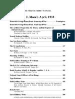 Field Artillery Journal - Mar 1933