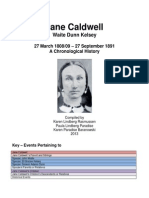 Caldwell, Jane Chronological History
