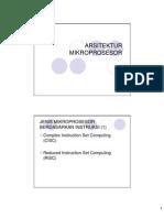 Sistem Mikroprosesor - Arsitektur Mikroprosesor