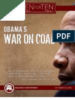 "Obama's War On Coal - RNC ""Ten For Ten"" eBook Series"
