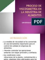 Proceso de viscosimetría en la industria de alimentos