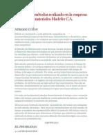 Estudio de métodos realizado en la empresa materiales Madefer C