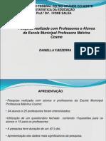Apresentaçao do trabalho de Estatistica na Educaçao - UFRN
