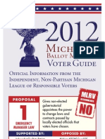 2012 Michigan League of Responsible Voters Ballot Guide - Printable