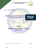2 Historia de La Educacicin a Distancia