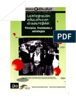 INTEGRACIÓN EDUCATIVA EN EL AULA REGULAR libro verde