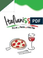 Menú Italianissimo