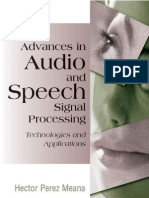 Advances in Audio and Speech Signal Processing--Technologies and Applications [Hardcover]